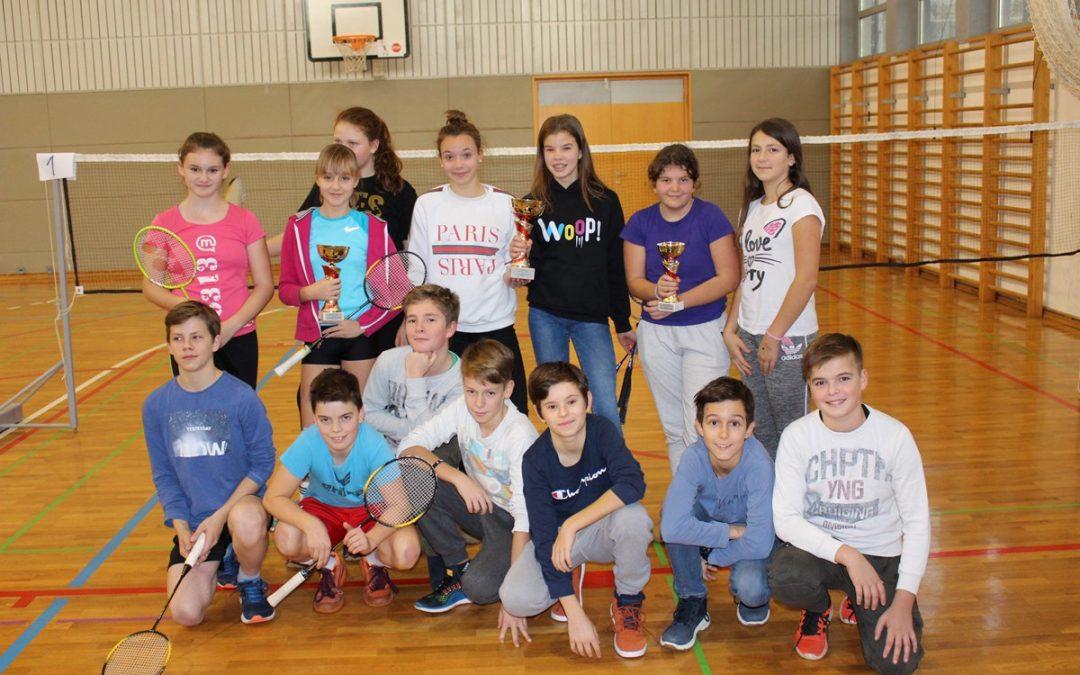 Občinski prvaki v badmintonu
